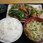 でいご食堂 - 料理写真:牛肉ピーマン