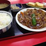 栄飯店 - サービスランチ(レバ炒め)