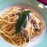 アリオ・エ・オリオ - 牡蠣のパスタ白ワインソース