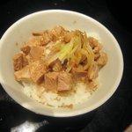 天竜担担麺店 - ミニチャーシュー飯