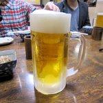 かとりや - 生ビールで乾杯!