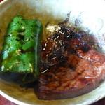 松阪 海津 - ピーマンと肉