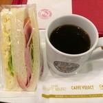 カフェ・ベローチェ - ブレンドコーヒー190円+玉子ハムミックス230円