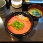 まぐろだけボーノ 白川 - 葱とろ丼 ¥800(消費税8%込)