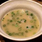 鶏匠 - 親子丼についてくるスープ