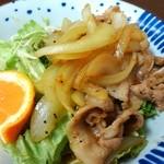 定食や おかだ - 豚バラ生姜焼き