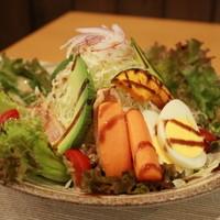 タモーチェ - 7種野菜と鶏たたきのトルティーヤ