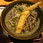 そば季寄 武蔵屋 - 穴子天ぶっかけ蕎麦