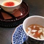 善平 - 最初に出てくるスープと茶碗蒸し