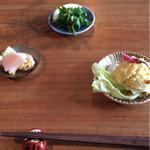 37046505 - ピクルス、桜とゆでたまごのポテトサラダ