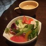 37048622 - ランチ:サラダ、スープつき