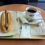 ドトールコーヒーショップ - 私のジャーマンドックセット(2015*04*17)