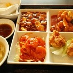 37056292 - 4品料理とスープと杏仁豆腐