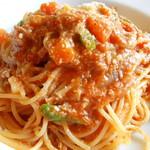 37059760 - アグー豚と旬野菜のトマトソースパスタ