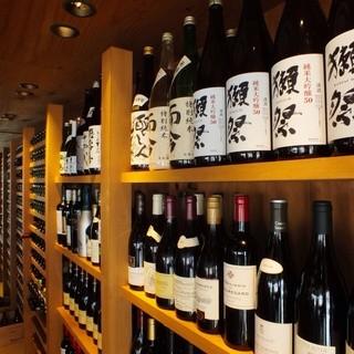【日本酒・ワイン】各地の銘酒、入手困難な地酒。ワインも豊富。