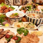 串家 すずどり - 料理写真:にこにこコース 一例