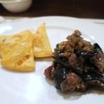 """ロッツォシチリア - """"パネッレ"""" パレルモ名物ヒヨコ豆のフリット、永世定番 茄子のカポナータ"""