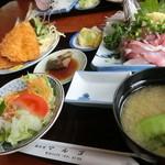 磯料理マルゴ - 黄金定食 1600円  2015.4
