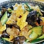 中華料理 龍縁 - 卵とキクラゲ炒め