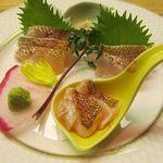 鮨菜旬炉料理 笑和 - 静岡県産 アカムツ(ノドグロ) 2700円(税込)