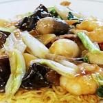 中華料理 龍縁 - 五目あんかけやきそば 五目あんかけ硬やきそば