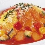 とろ~りチーズのトマトオムライス