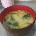 四八天丼 - お味噌汁も付きます。