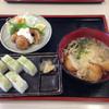 港あおしま - 料理写真:青島うどん定食  ハモ寿司