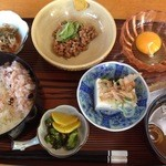 37067496 - 豆腐、納豆、生卵定食、@500