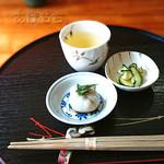 霧島そば處かわぐち - 蕎麦豆腐 [そば御膳]
