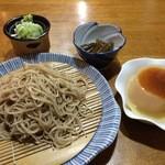 ももん - 料理写真:ざるそば定食(他デザート付)750円