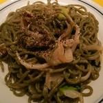 関谷スパゲティ - あおさ海苔生麺のウニクリーム