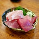 魚三酒場 富岡店 - まぐろブツ