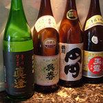 くら羅 - 日本酒、焼酎もこのほかいろいろ取り揃えております