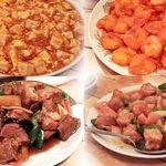 双龍園 - 麻婆豆腐、エビチリ、スペアリブ黒酢、酢豚