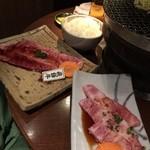 てっちゃん - 飛騨牛+ご飯+ビール(笑)