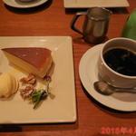 CAFE bon! - ケーキセット(チーズケーキとコーヒー) \980