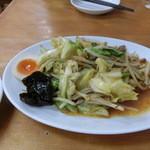 北海道ラーメン 赤レンガ - 野菜炒め550円
