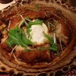 大戸屋 - チキンの味噌かつ煮定食737円(税別)