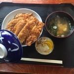 きよしや食堂 - 昭和の味がするタレカツ丼。ご飯にもたれが染みててうまいです