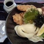 瀬戸内製麺710 - とり玉天ぶっかけ&穴子天(H27.4.16)