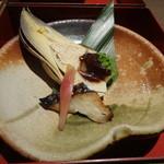釜の座 - 筍の姿焼き、鰆の西京焼き