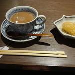 釜の座 - 食後のコーヒーとデザート