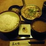 矗々家 - 牛すき玉子とじ定食