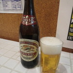 定食屋ケンケン - 瓶ビール(中) 390円