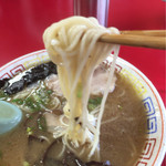 天琴 - 麺はコシなし細めのストレート麺^^;
