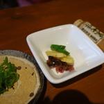 和食 縁 蕎麦切り - 親子丼のセットの薬味