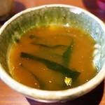 和食 縁 蕎麦切り - 丼のお吸い物