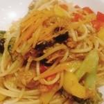 37095585 - からすみ風味VERDEスパゲティー(野菜いっぱいのピリ辛)