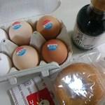 37098346 - 焼きドーナツ・卵かけごはん醤油・バラ売り卵